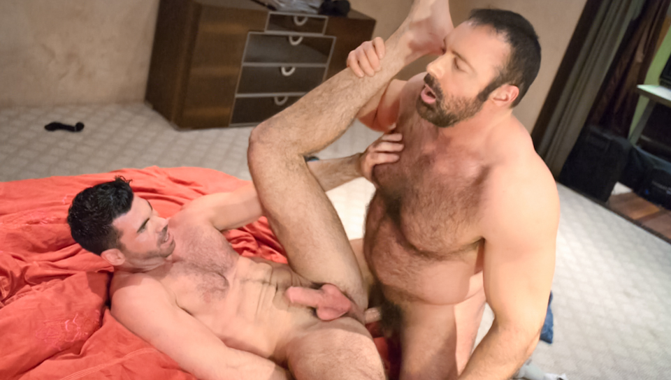 Daddy bear kissing gay sex hot boy fun josh
