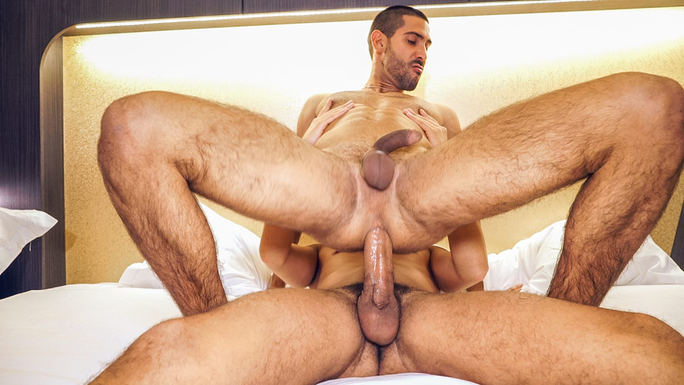 Solo mature stud jerking his cock