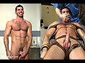 Men on Edge: Muscled stud Billy Santoro strapped down & has his cock milked at the sperm bank