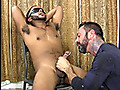 Straight Fraternity: Hung straight guy cuffed, blindfolded and sucked off