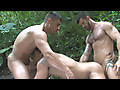 Chiseled studs fucking in the rainforest